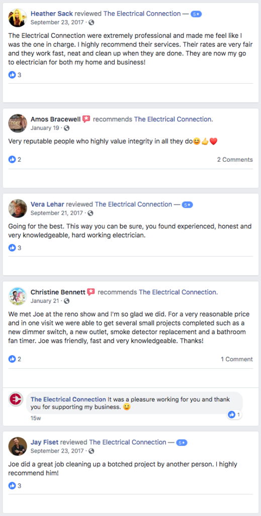 The Electrical Connection, calgary electrician reviews